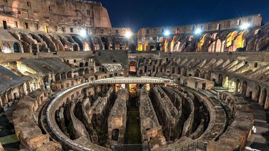 Colosseum Tour by Night with Underground and Roman Forum Experience