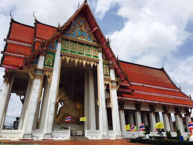 Standing Golden Buddha Temple