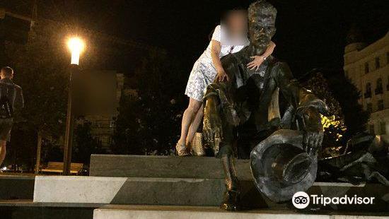 Sitting Statue of Attila József