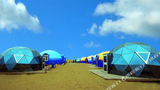 阿拉善左旗騰格裏沙漠外星球營地