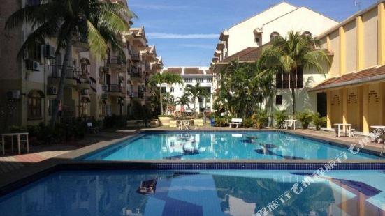 馬六甲金色沐浴假日家庭式公寓