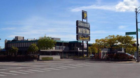底特律市中心河濱城套房汽車旅館